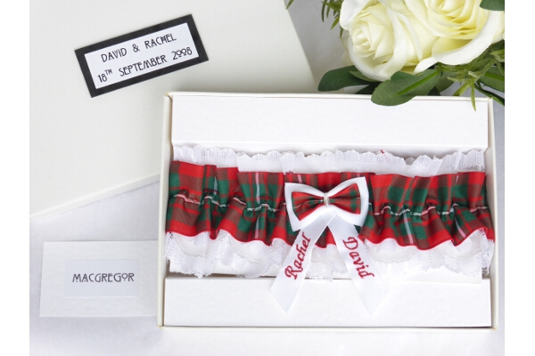 Bridal Wear - Personalised Tartan Wedding Garter - MacGregor