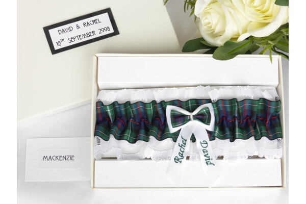 Bridal Wear - Personalised Tartan Wedding Garter - MacKenzie